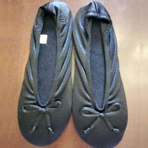 Isotoner Black Ballet Slippers
